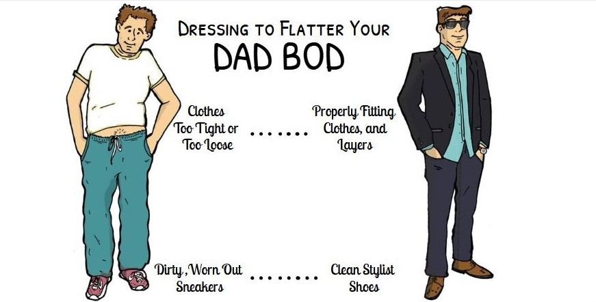 dress to flatter your dad bod